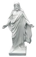 Kristusstaty vit, stor (40 cm)