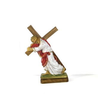 Jesus bär korset (17 cm)