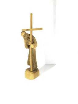 Jesus bär korset, trä (23 cm)
