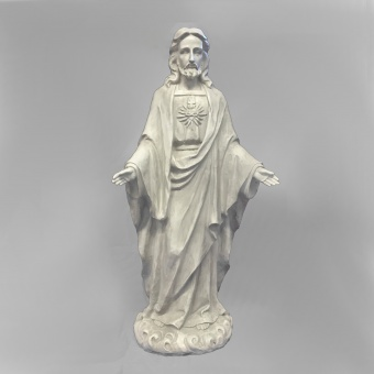 Jesus, stående, naturfärgad (64 cm)