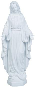 Maria, stående, vit (40 cm)