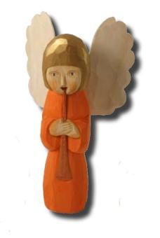 Noa (ängel m flöjt), 27 cm, röd