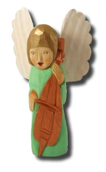 Linus (ängel m basfiol), 27 cm, grön