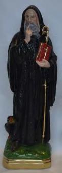 Helige Benedictus av Nursia, 20cm, resin