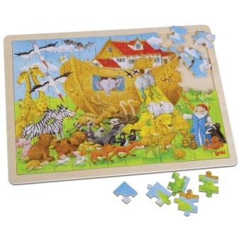 Noas Ark träpussel (96 bitar)