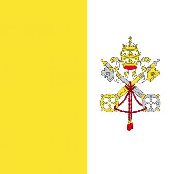 Vatikanflagga 1,5x1,5m för flaggstång