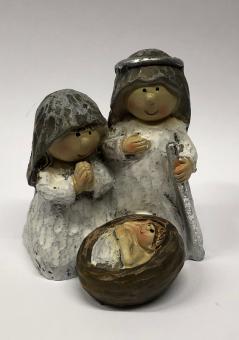 Julkrubba, mini, keramik, 6x6cm