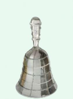 Glasklocka, silverfärgad