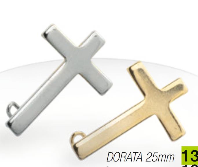 Pin: Kors m säkerhetsnål, guldfärgat
