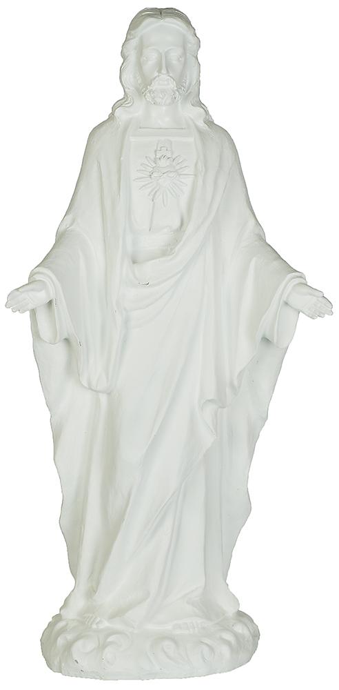 Jesus, stående, vit (64 cm)