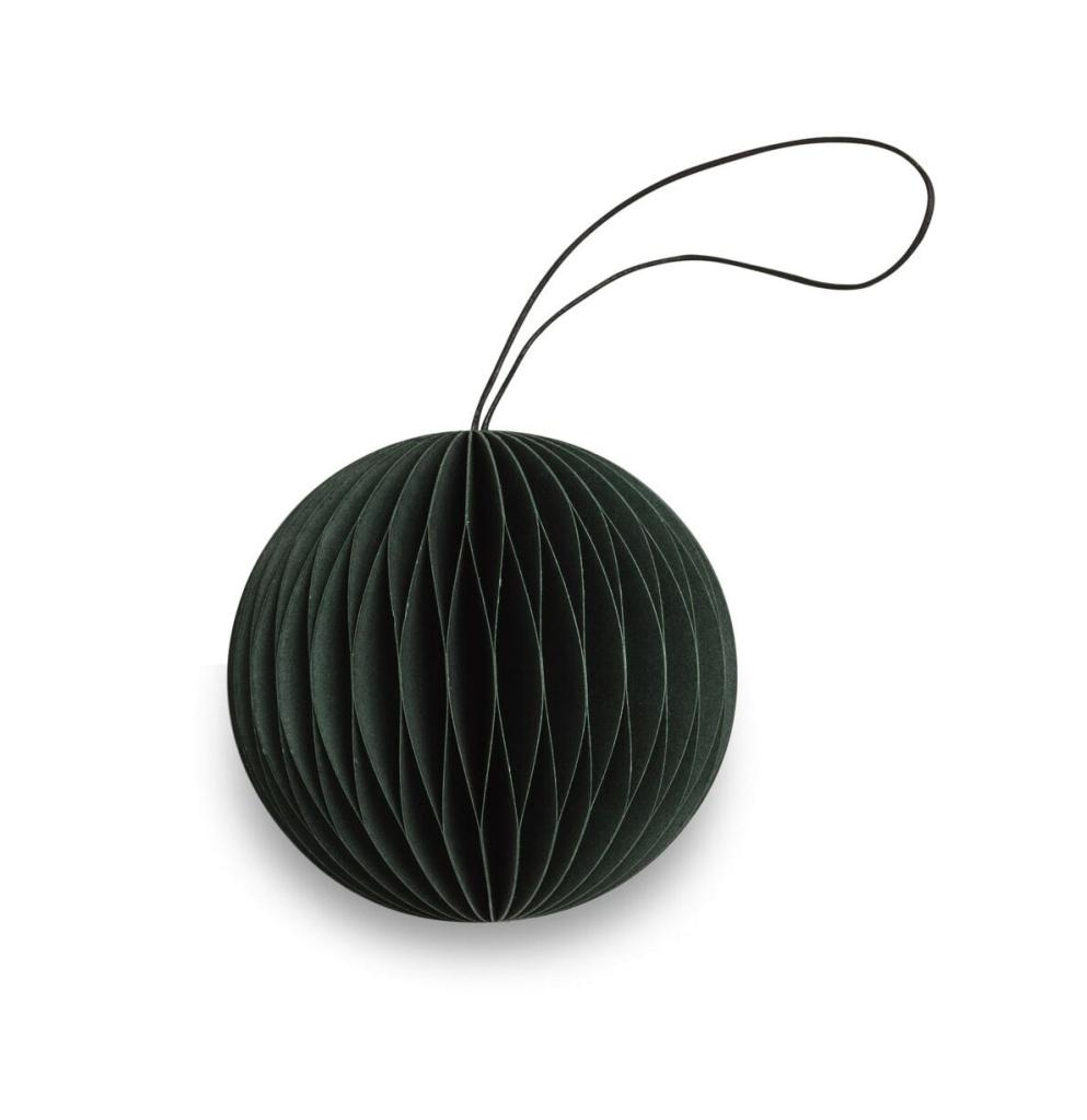 Paper Ornament Scoop Green