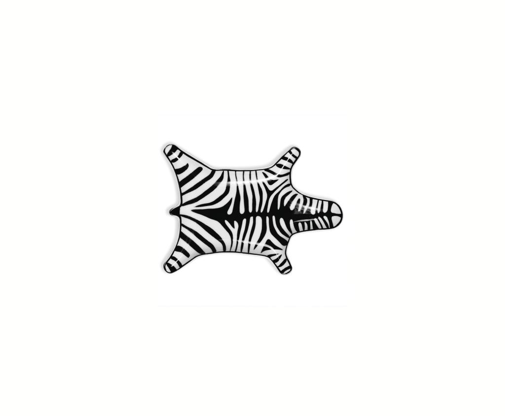 Zebra Stacking Dish Svart