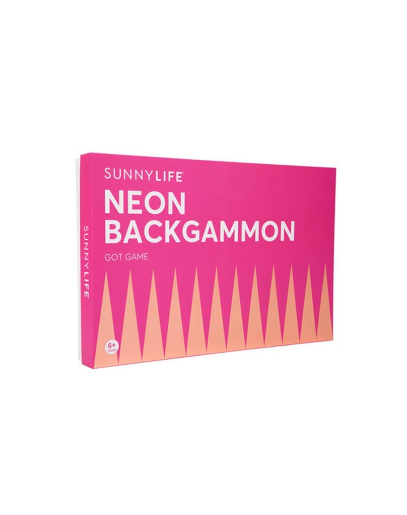 Backgammon Orange & Pink