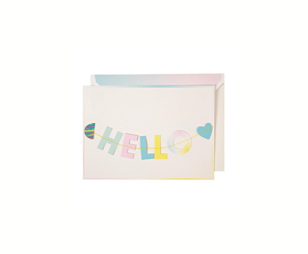 Hello Little One Garland Card
