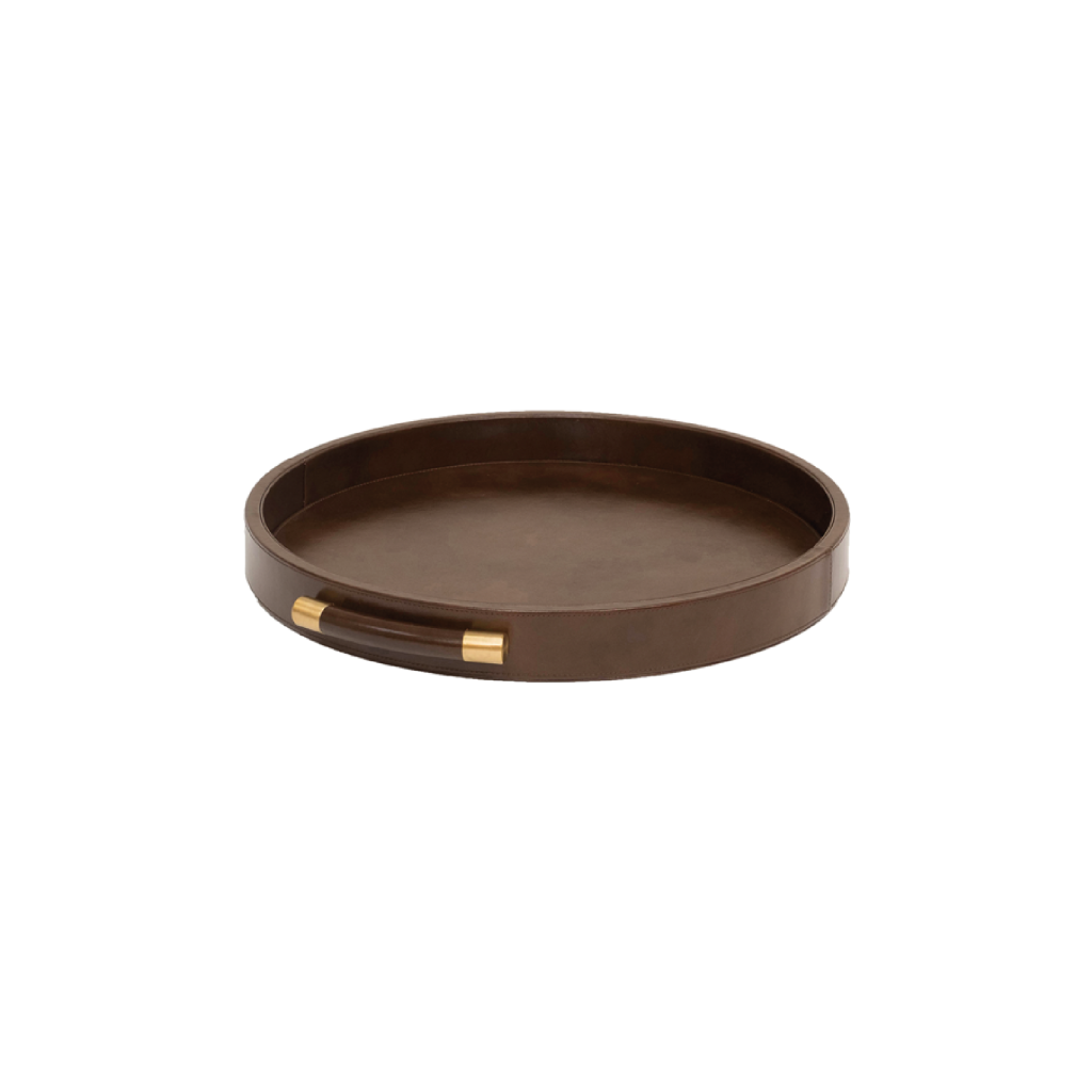 Luca Leather Tray Round