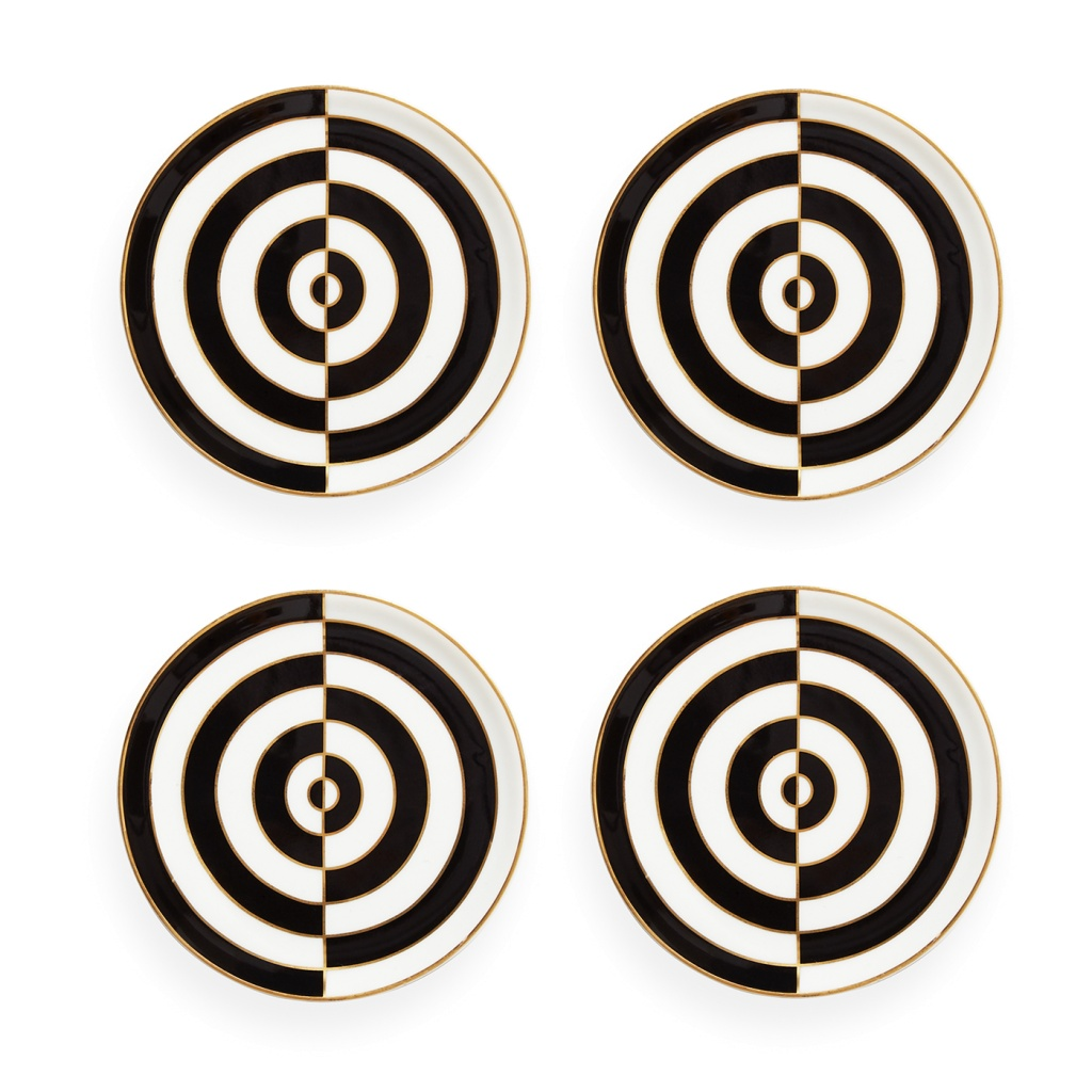 OP art coaster black /white