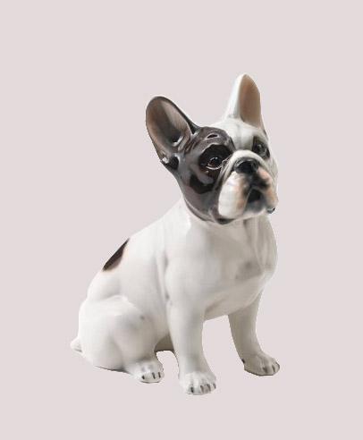Fransk Bulldog Porslin