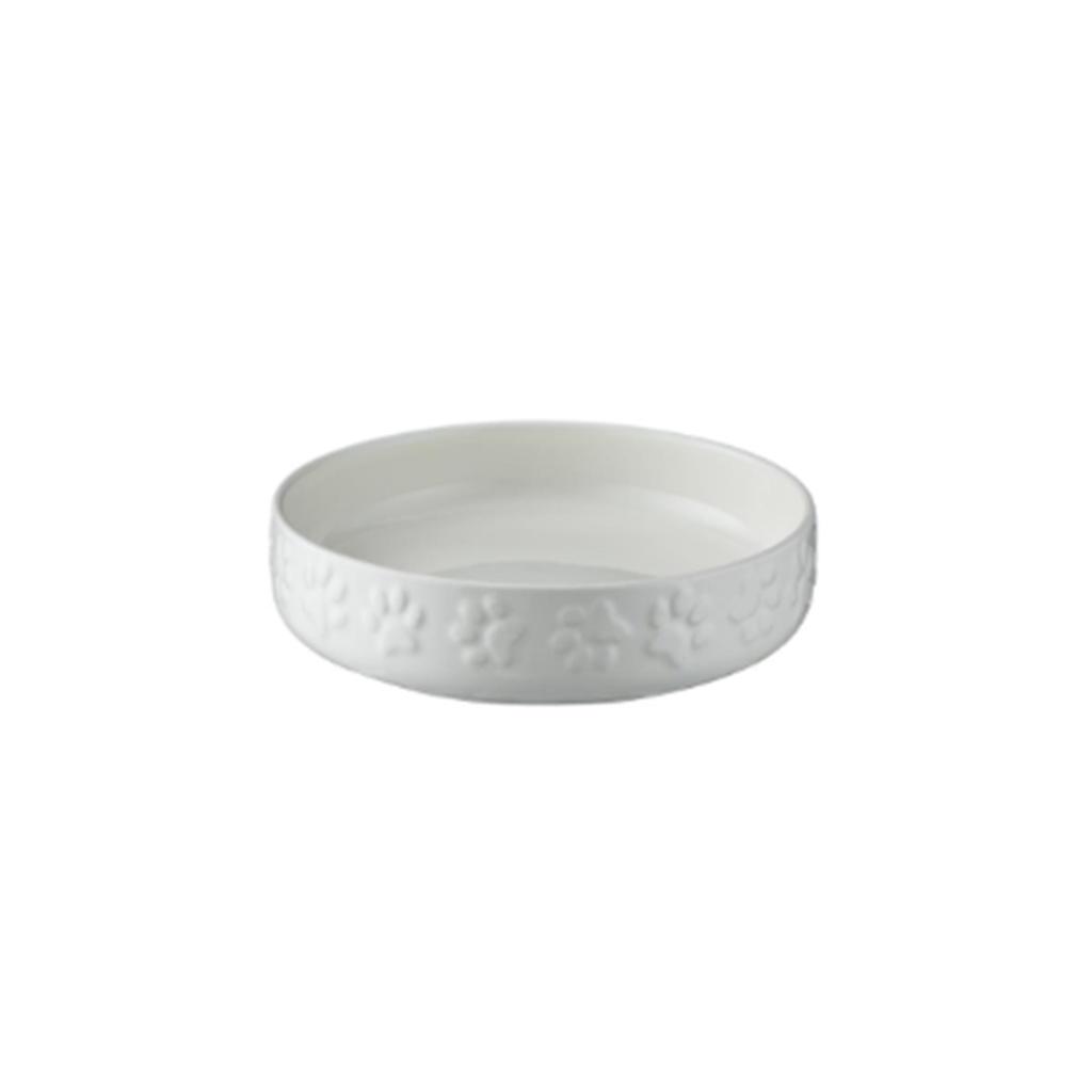 Keramikskål Vit med tassmotiv