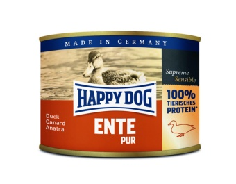 Happy Dog konserv, 100% animalisk, Anka