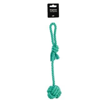 Dogman Blå boll med rep