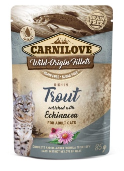 Carnilove Cat Pouch Trout enriched with Echinacea 85 g