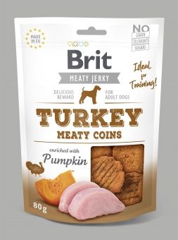 Brit Jerky Snack, Turkey Meaty Coins