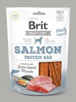 Brit Jerky Snack, Salmon Protein Bar 80g