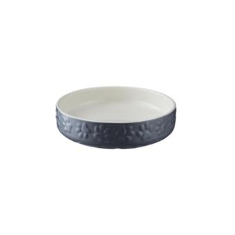 Keramikskål Grå med tassmotiv