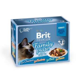 Brit Premium Pouches Fillets in Gravy Family Plate