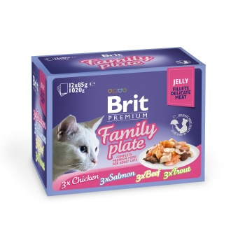Brit Premium Pouches Fillets in Jelly Family Plate