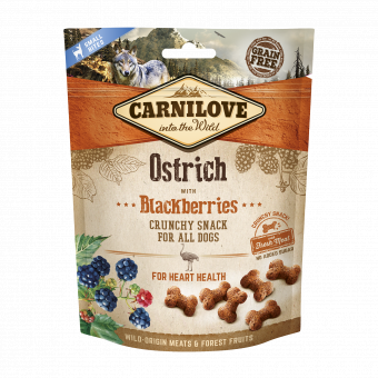 Carnilove Dog Crunchy Snack Ostrich & Blackberries with fresh meat