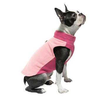 Gooby Fleece Vest Half Stretch Peach