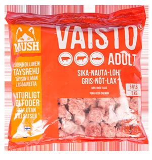 MUSH Vaisto® Adult Röd (Gris-nöt-lax)