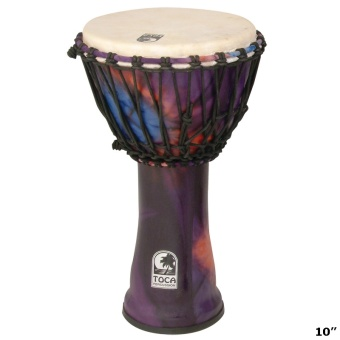 "Djembe 10"" Toca Woodstock Purple"