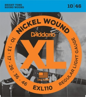 D'Addario XL EXL110 010-046 Nickel Wound