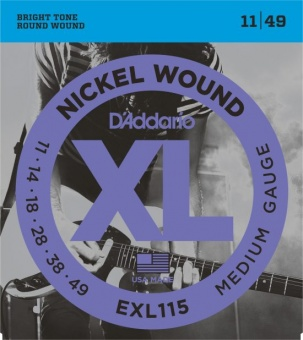 D'Addario XL EXL115 011-049 Nickel Wound
