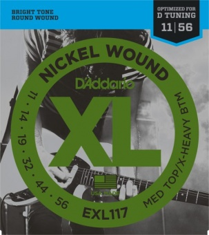 D'Addario XL EXL117 011-056 Drop D-Tuning Nickel Wound