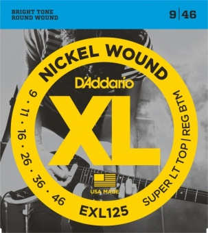 D'Addario XL EXL125 009-046 Nickel Wound