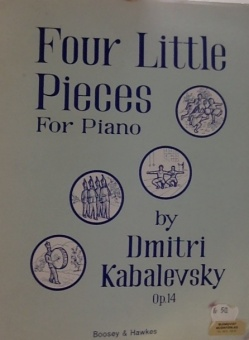 Four Little Pieces For Piano