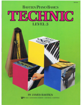 Bastien piano basics technic level 3