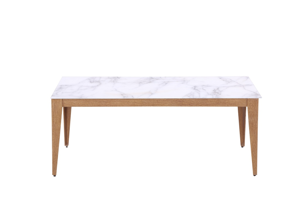 Berömda Robin Soffbord, 120x60, ljus marmor/ek - Inneboende BE-24