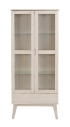 Filippa vitrin hög vitpigmenterad ek