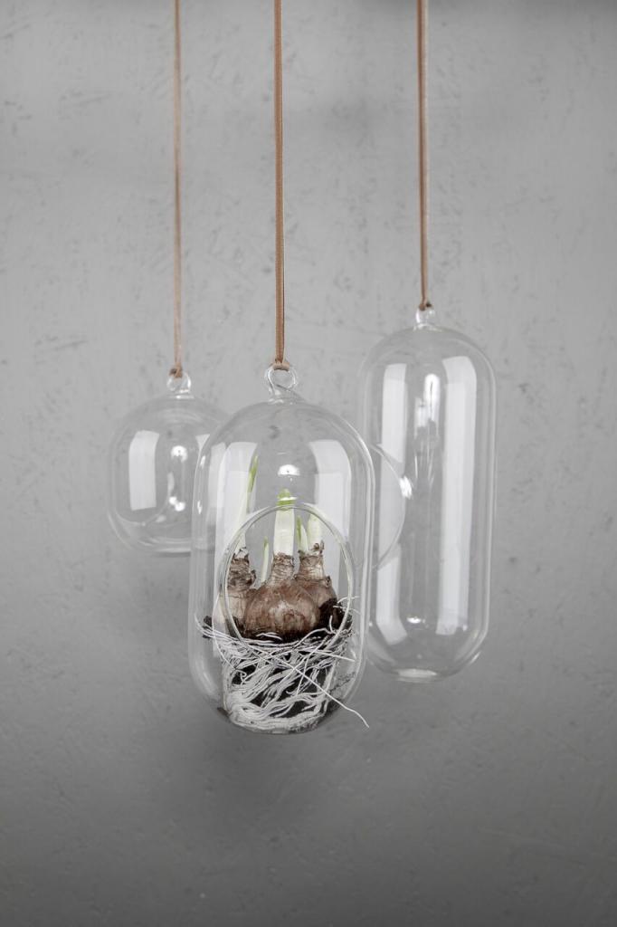 DBKD Glasampel/Hanging Glass Pot Mellan
