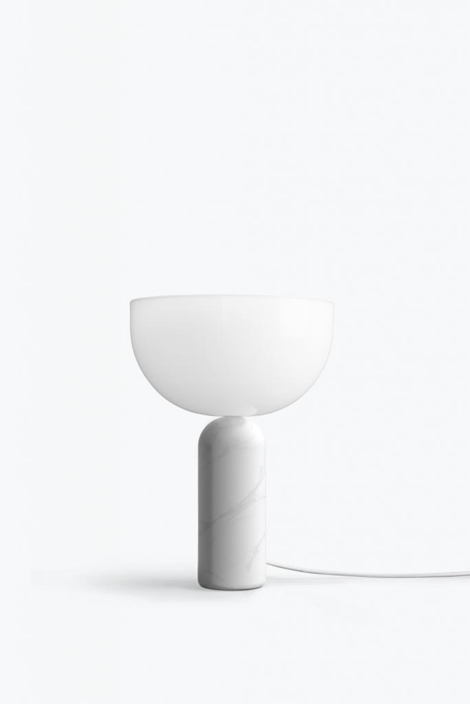 New Works Kizu Table Lamp White Marble