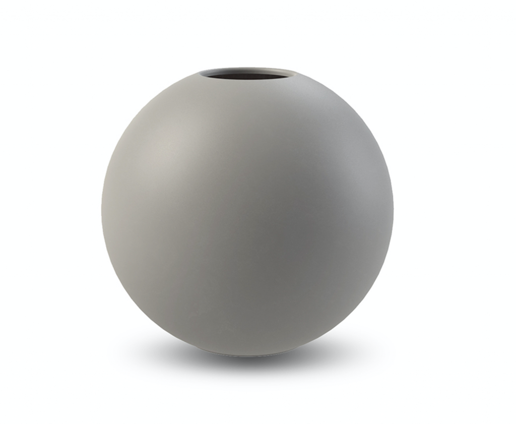 Cooee Ball Vase Grey 30 cm