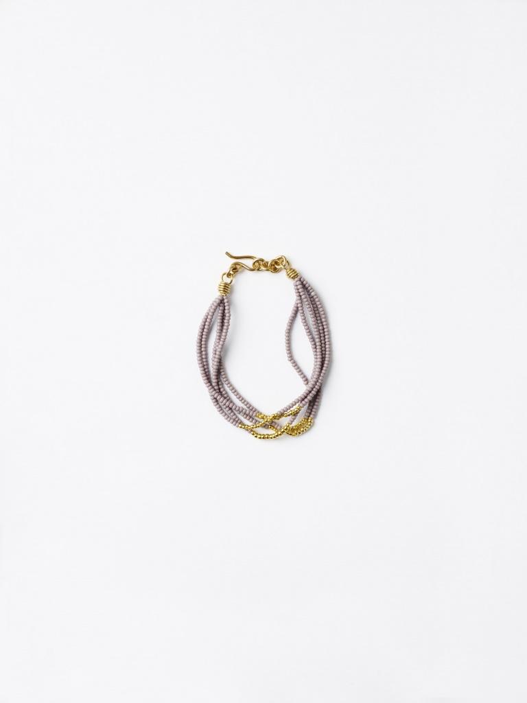 Malaika Cotton Beads and Brass Bracelet