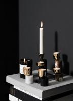 Skultuna Streamers ljusstake Black Marble Model A