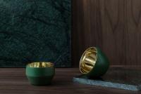 Skultuna Ljuslykta Kin Dark Green, Set med 3 st