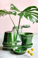 Bergs Potter Kruka Copenhagen Glazed Emerald Green