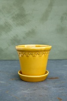 Bergs Potter Kruka Copenhagen Glazed Yellow Amber